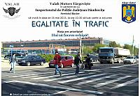 Valah Motors - Egalitate in trafic - poster 2015